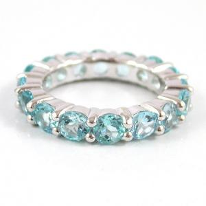 Inel Blue Topaz Natural Eternity 5 carate1