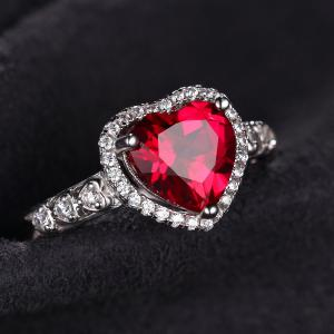 Inel Borealy Argint 925 Rubin 3 carate Red Love Marimea 62