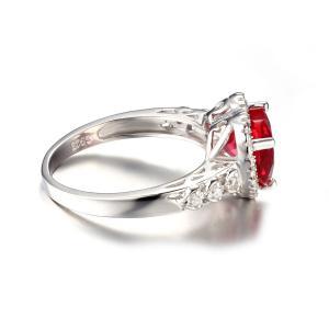 Inel Borealy Argint 925 Rubin 3 carate Red Love Marimea 61