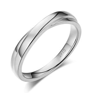 Inel Borealy Aur Alb 14 K Men's Style Twisted Band