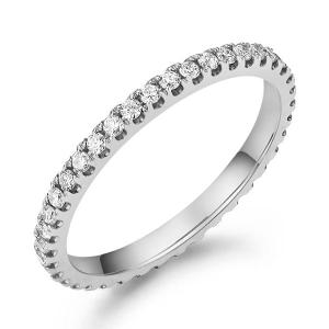 Inel Borealy Aur Alb 14 K Natural Diamonds Eternity Band