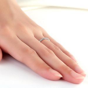 Inel Borealy Aur Alb 14 K Natural Diamonds Heart Eternity Band5