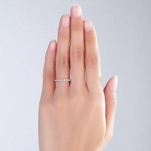 Inel Borealy Aur Alb 14 K Natural Diamonds Heart Eternity Band6