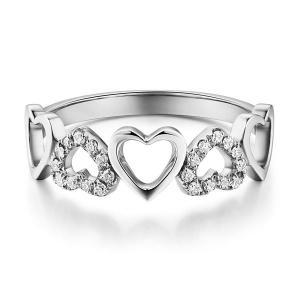 Inel Borealy Aur Alb 14 K Natural Diamonds Hearts Drawn1
