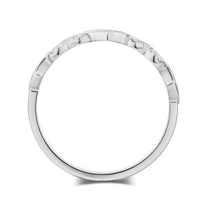 Inel Borealy Aur Alb 14 K Natural Diamonds Hearts Drawn3