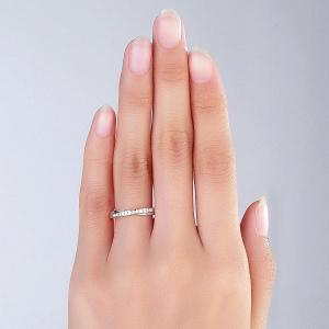 Inel Borealy Aur Alb 14 K Natural Diamonds Women's Style Twisted Band2