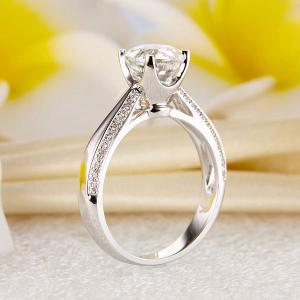 Inel Borealy Aur Alb 14 K Topaz 1,5 Ct Wedding Engagement Ring5