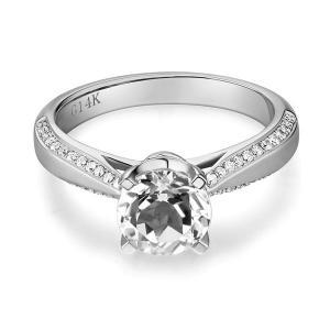 Inel Borealy Aur Alb 14 K Topaz 1,5 Ct Wedding Engagement Ring1