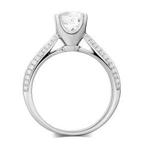 Inel Borealy Aur Alb 14 K Topaz 1,5 Ct Wedding Engagement Ring6
