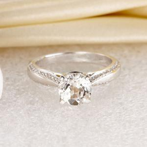 Inel Borealy Aur Alb 14 K Topaz 1,5 Ct Wedding Engagement Ring4