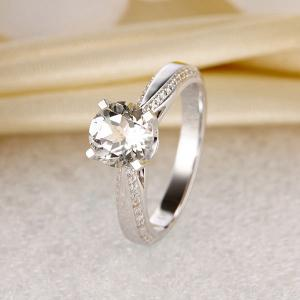 Inel Borealy Aur Alb 14 K Topaz 1,5 Ct Wedding Engagement Ring7