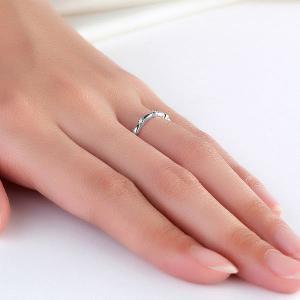 Inel Borealy Aur Alb 14 K Wedding Natural Diamonds String3