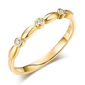 Inel Borealy Aur Galben 14 K Wedding Natural Diamonds String