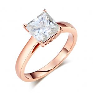Inel Borealy Aur Roz 18 K Engagement Moissanite Diamond