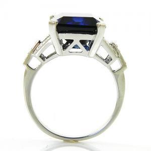 Inel Cocktail Charm Safir 7 carate Argint Borealy Marime 72