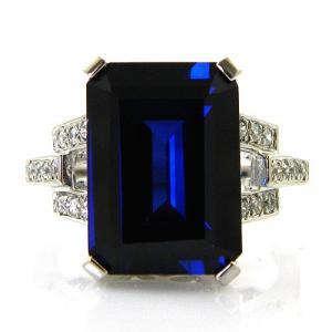 Inel Cocktail Charm Safir 7 carate Argint Borealy Marime 71