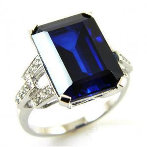Inel Cocktail Charm Safir 7 carate Argint Borealy Marime 70