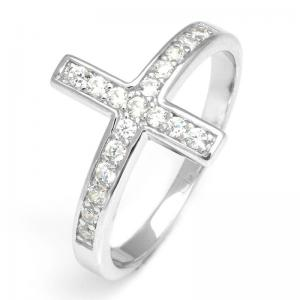 Inel Borealy Argint 925 Cross Solid Marimea 60