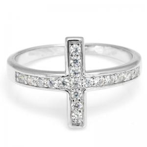 Inel Borealy Argint 925 Cross Solid Marimea 63