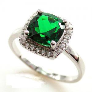 Inel Delicate Luxury Smarald  2.14 carate Argint 925 Marimea 61