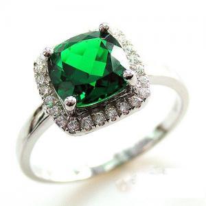 Inel Delicate Luxury Smarald  2.14 carate Argint 925 Marimea 64