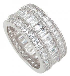Inel Emerald Eternity Argint 9250