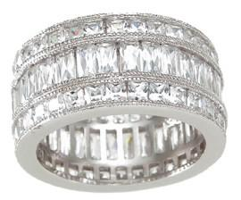 Inel Emerald Eternity Argint 9251