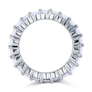 Inel Borealy Argint 925 Eternity Oval Cut Mărimea 85