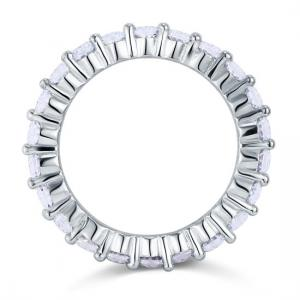 Inel Borealy Argint 925 Eternity Round Cut Mărimea 84