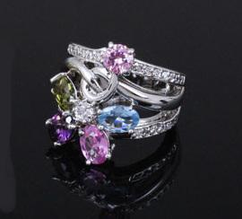 Inel MultiColour Crystal Glow1