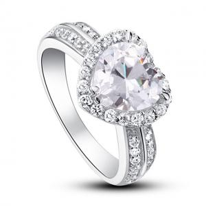 Inel Borealy Argint 925 Simulated Diamond Heart Silver Marimea 61