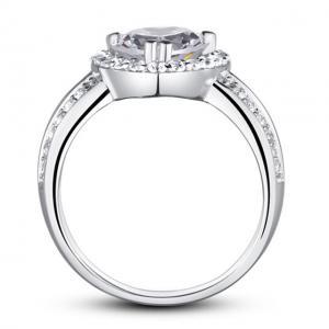 Inel Borealy Argint 925 Simulated Diamond Heart Silver Marimea 62