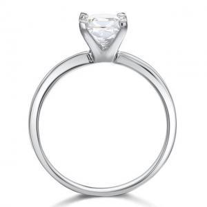 Inel Borealy Argint 925 Simulated Diamond Logodna Princess Marimea 72