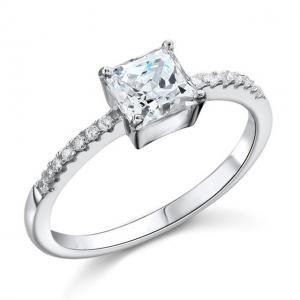 Inel Borealy Argint 925 Simulated Diamond ZIRCONIA Logodna Princess Lux Marimea 70