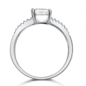 Inel Borealy Argint 925 Simulated Diamond ZIRCONIA Logodna Princess Lux Marimea 74
