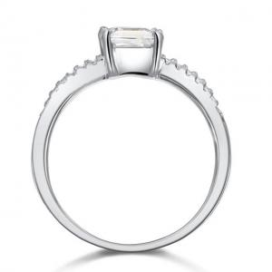 Inel Borealy Argint 925 Simulated Diamond Zirconia Logodna Princess Lux Marimea 6,51
