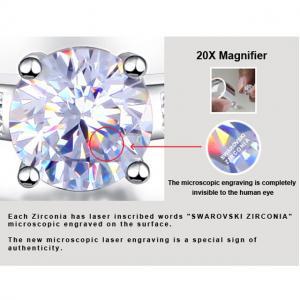 Inel Borealy Argint 925 Simulated Diamond ZIRCONIA Logodna Princess Lux Marimea 73