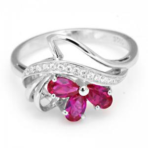 Inel Lotus Flower Royal Rubin Argint 925 Borealy Marimea 6,51
