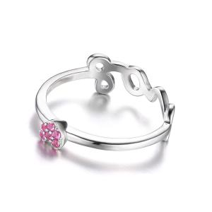 Inel Love you in my heart Pink – marimea 72
