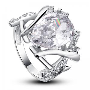 Inel Borealy Argint 925 Simulated Diamond 4 carate Marquise Pear Marimea 62