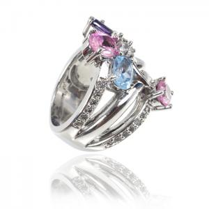 Inel MultiColour Crystal Glow4