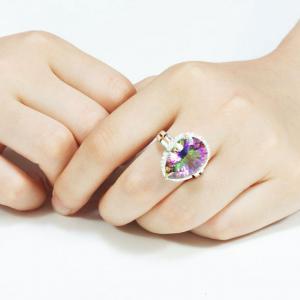 Inel Mistic Fire Topaz Pear 10 carate Argint 925 Marimea 71