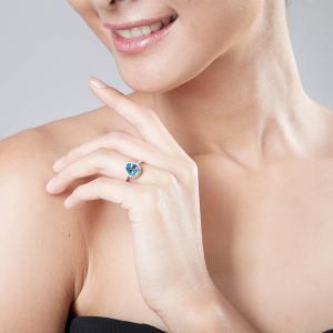 Inel Pear Lux Topaz Natural 1,80 carate Argint1