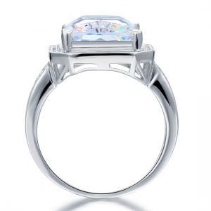 Inel Borealy Argint 925 Simulated Diamond Radiant Cut Created Marimea 73