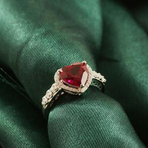 Inel Borealy Argint 925 Rubin 3 carate Red Love Marimea 64