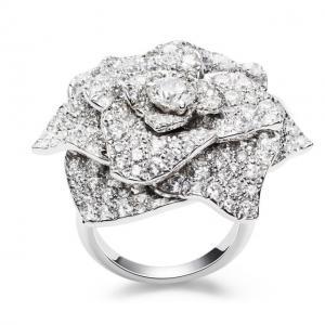 Inel Borealy Titanium Simulated Diamonds Luxury Rosa Marimea 6,51