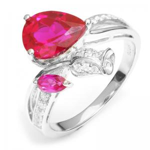 Inel Rose Pigeon Blood Red Ruby 3,5 ct Mărimea 6