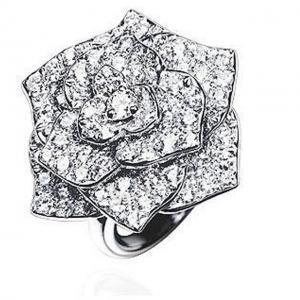 Inel Borealy Titanium Simulated Diamonds Luxury Rosa Marimea 6,54