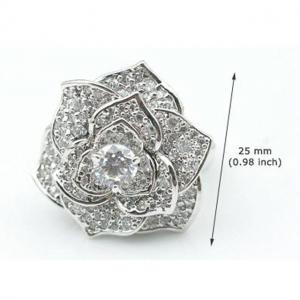 Inel Borealy Titanium Simulated Diamonds Luxury Rosa Marimea 6,56