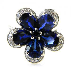 Inel Safire Flowers 5 carate & Silver 9251